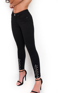 View the Rosilee Mid Rise Studded Zip Jeans online at iKrush