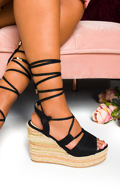 View the Rosina Tie Braided Wedges online at iKrush