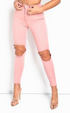 View the Roslyn Ripped Skinny Fit Jeans  online at iKrush