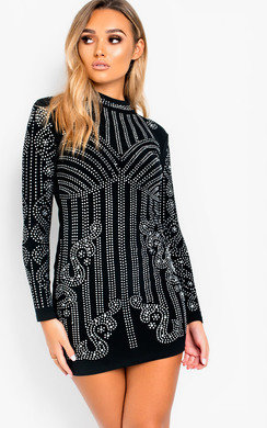 View the Roxana Embellished Bodycon Dress online at iKrush
