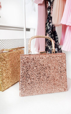 View the Roxanne Glitter Clutch Bag online at iKrush
