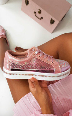 View the Roxi Diamante Embellished Trainers online at iKrush