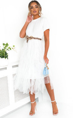View the Roxi Tulle Midi Dress online at iKrush