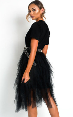 View the Roxi Tulle Midi Dress online at iKrush