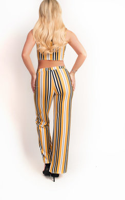 View the Ruby Stripe Crop Top Co-Ord online at iKrush