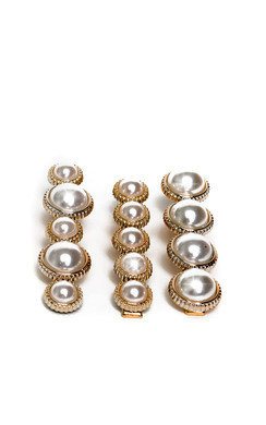 View the Saara Three Piece Pearl Hair Clip online at iKrush