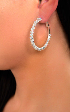 View the Sabrina Diamante Hoop Earrings  online at iKrush