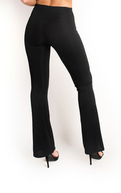 View the Sabrina Ribbed Flared Trousers online at iKrush