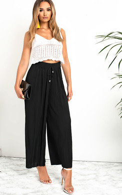 View the Sabrine Ribbed Wide Leg Trousers online at iKrush