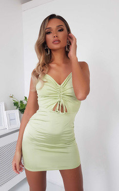 View the Safron Slinky Bodycon Dress online at iKrush