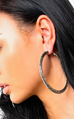 View the Sandi Triple Hoop Earrings  online at iKrush