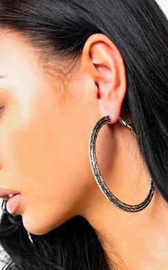 View the Sandi Triple Hoop Earrings  online at iKrush