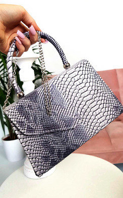 View the Sandy Croc Print Handbag online at iKrush