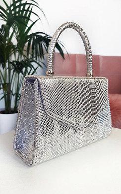 View the Sandy Croc Print Handbag online at iKrush