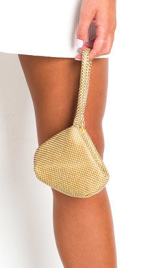 View the Sara Diamante Chainmail Pouch Bag online at iKrush