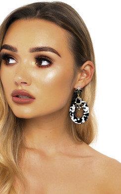 View the Sara Geometric Statement Earrings  online at iKrush