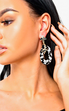 View the Sara Geometric Statement Earrings  online at iKrush