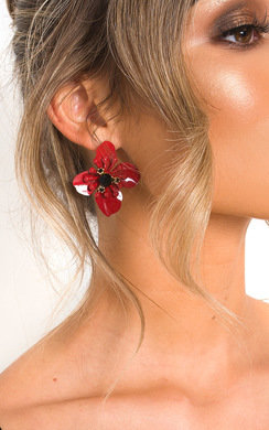View the Sarah Floral Drop Earrings  online at iKrush
