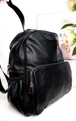 View the Sasha Faux Leather Backpack Bag online at iKrush