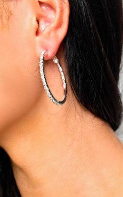 View the Saskia Diamante Hoop Earrings  online at iKrush
