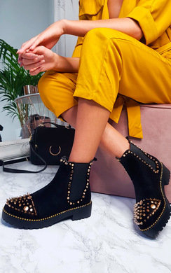 View the Saskia Studded Ankle Boots online at iKrush