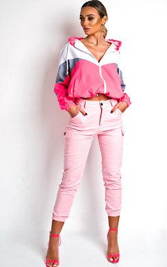 View the Sav Neon Sports Shell Bomber Jacket online at iKrush