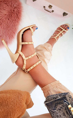 View the Savina Strappy Pointed High Heels  online at iKrush