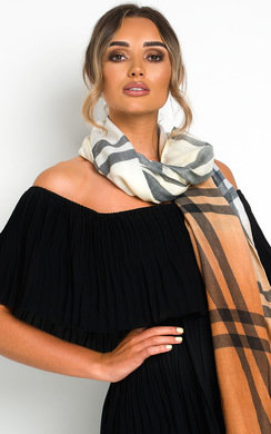 View the Saz Check Print Scarf online at iKrush