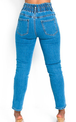 View the Saz Elasticated Waist Skinny Jeans  online at iKrush