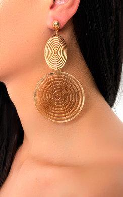 View the Saz Multi Hoop Drop Gold Earrings  online at iKrush