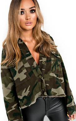 View the Serena Camo Denim Jacket online at iKrush