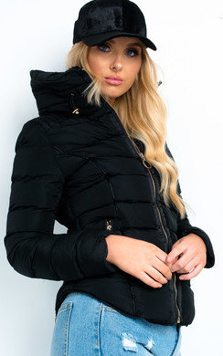 View the Serena Padded Faux Fur Jacket online at iKrush