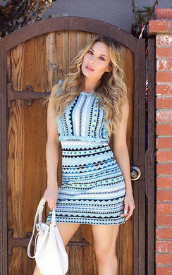 View the Shay Aztec Frill Dress online at iKrush