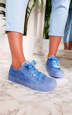 View the Sheena Faux Suede Ribbon Trainer online at iKrush
