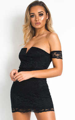 View the Shelli Lace Bodycon Dress online at iKrush