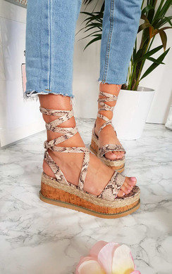 View the Sherry Cork Strappy Wedge Sandals online at iKrush