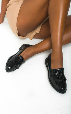 View the Shirley Patent Tassel Brogue Sandals online at iKrush