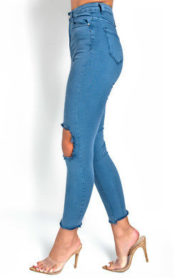 View the Shirly Ripped Knee Jeans  online at iKrush
