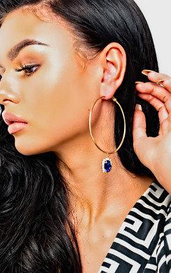View the Sia Jewel Drop Hoop Earrings  online at iKrush