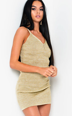 View the Sia Metallic Knit Mini Dress online at iKrush