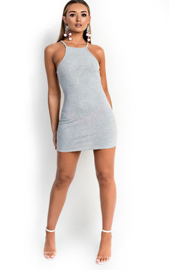 View the Sienna Ribbed Bodycon Dress online at iKrush