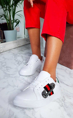 View the Simone Embellished Trainers online at iKrush
