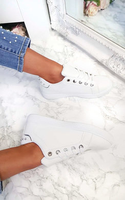 View the Simone Studded Stripe Trainers online at iKrush