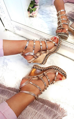 View the Sofi Studded Strappy Wedges online at iKrush