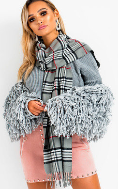 View the Sofiana Soft Checked Scarf online at iKrush