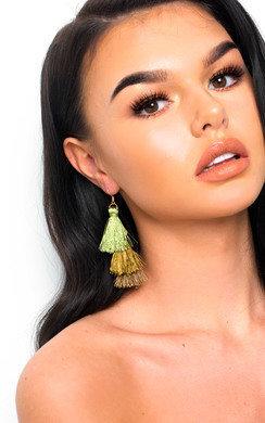 View the Sofiana Tassel Chandelier Earrings  online at iKrush