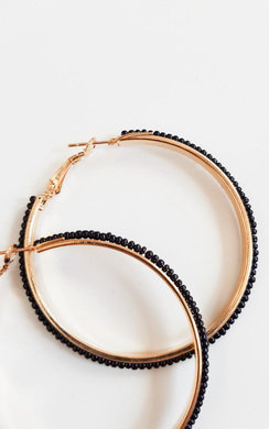 View the Sonia Beaded Hoop Earrings  online at iKrush