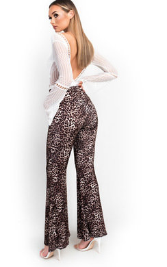 View the Sophie High Waist Stretch Flared Trousers  online at iKrush