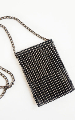 View the Sorcha Diamante Cross Body Slip Bag online at iKrush