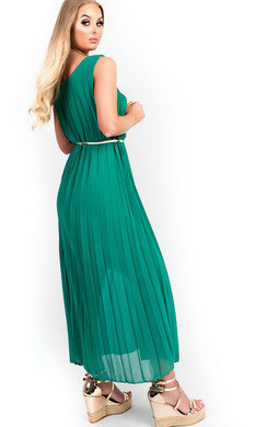 View the Sorcha Pleated Maxi Dress online at iKrush